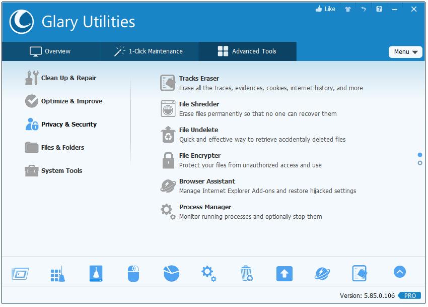 Key bản quyền phần mềm chăm sóc máy tính Glary Utilities Pro