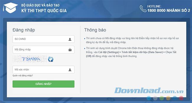 Hướng dẫn điều chỉnh nguyện vọng xét tuyển liên tục bằng Firefox hoặc Chrome