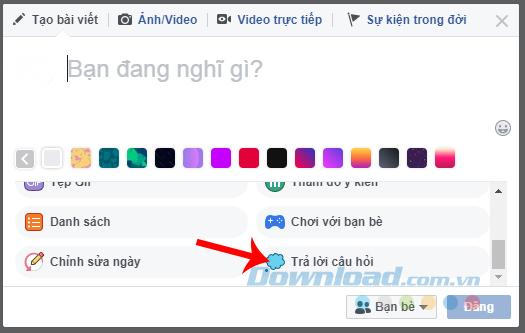 Hướng Dẫn đặt câu hỏi (Questions) trên Facebook