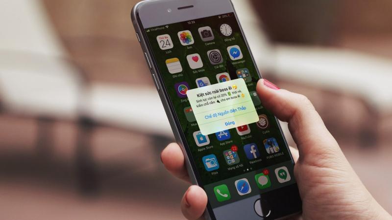 Hướng dẫn thao tác mod lại thông báo pin yếu trên phiên bản iOS 11.2 - 11.3.1