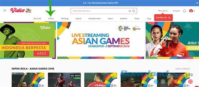 Hướng dẫn xem bóng đá ASIAD 2018 trực tiếp trên máy tính và điện thoại