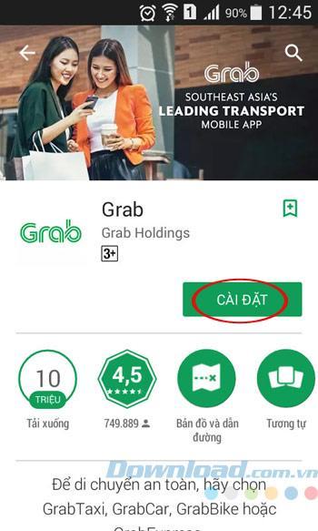 Hướng dẫn sử dụng Grab để gọi xe ôm