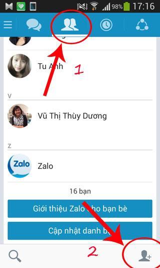 Hướng dẫn tìm và kết bạn trên Zalo