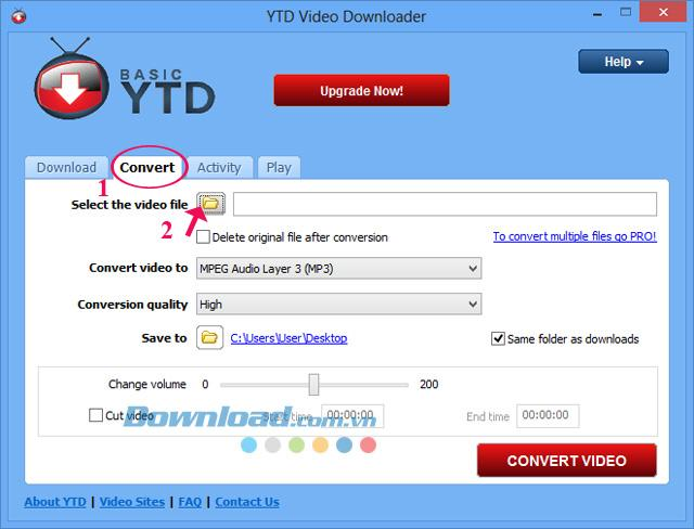 Hướng dẫn chuyển đổi video bằng công cụ YTD Video Downloader