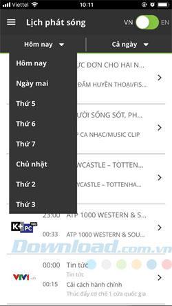 Hướng dẫn xem bóng đá K+ với myK+ trên điện thoại
