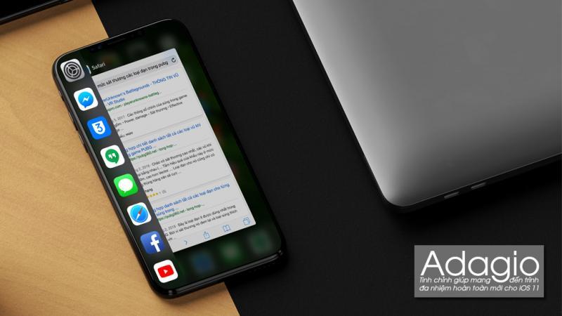 Adagio - Tinh chỉnh mang đến giao diện mới cho trình đa nhiệm trên iOS 11