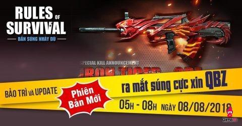 ROS mobile: Ra mắt súng cực xịn QBZ ngày 8/8