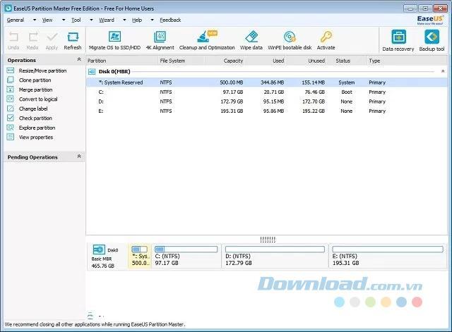 Những phần mềm quản lý phân vùng ổ cứng miễn phí tốt nhất