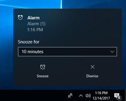 Hướng dẫn hướng dẫn đặt báo thức Windows 10 được cài đặt sẵn