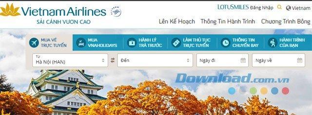 Hướng dẫn hướng dẫn đặt vé máy bay Vietnam Airlines liên tục
