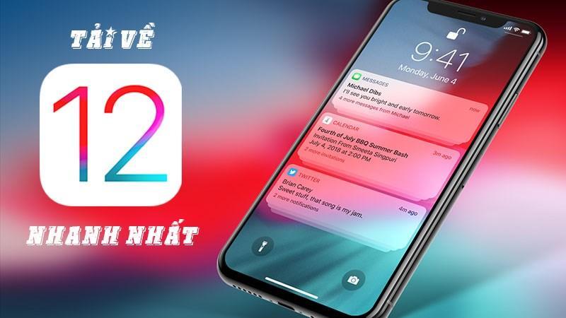 Hướng dẫn hướng dẫn download và setup iOS 12 nhanh hơn server Apple