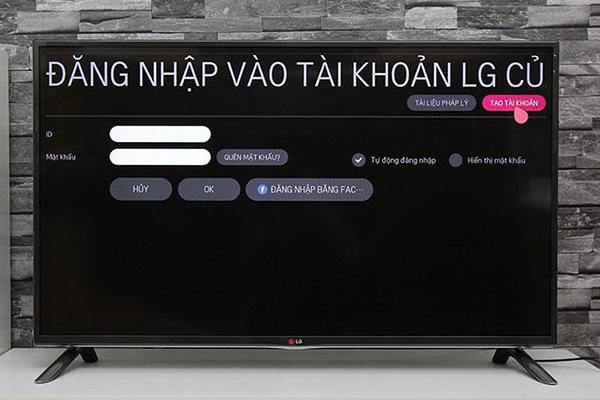 Hướng dẫn hướng dẫn tạo tài khoản cá nhân trên smart tivi LG