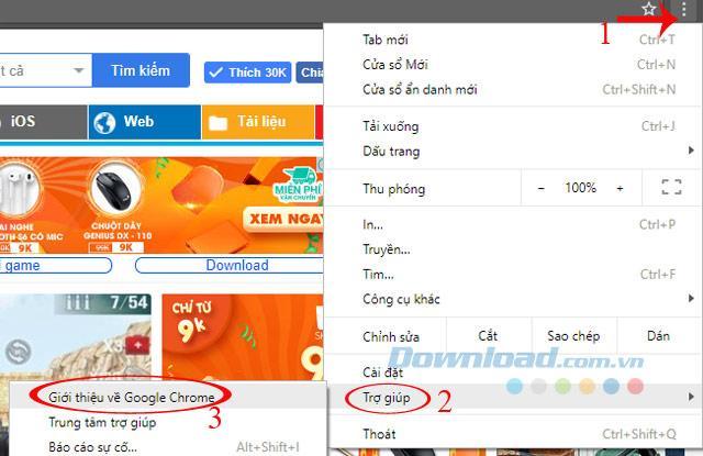 Hướng dẫn update lên phiên bản mới nhất cho Google Chrome