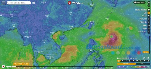 Hướng Dẫn sử dụng Windy để theo dõi bão, update tin tức về thời tiết