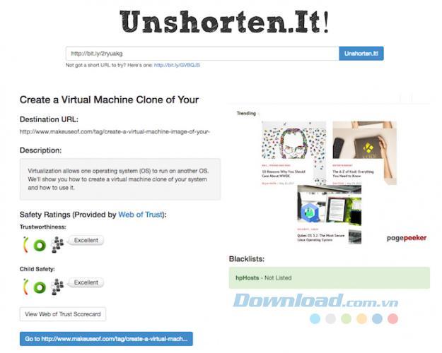 4 công cụ kiểm tra URL đã rút gọn