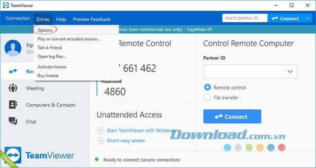 Bật tính năng khởi động cùng Windows của TeamViewer