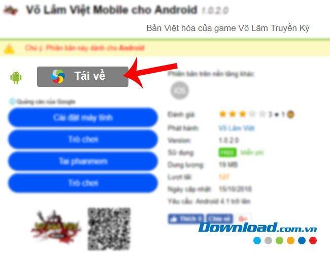 Hướng Dẫn setup và chơi game Võ Lâm Việt Mobile trên máy tính