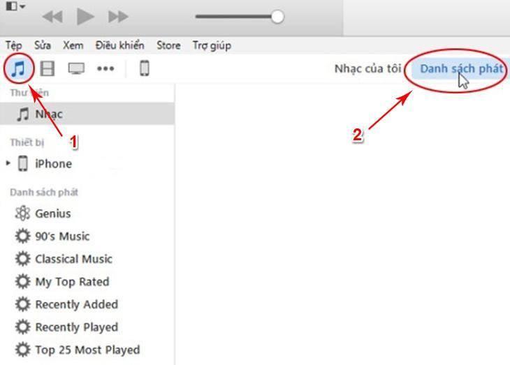 Hướng dẫn chép nhạc từ máy tính qua iPhone bằng iTunes