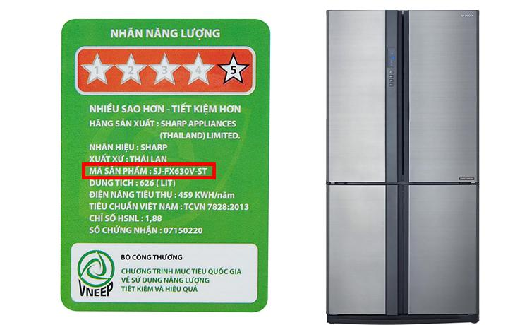 Hướng dẫn hướng dẫn sử dụng bảng điều khiển tủ lạnh Sharp SJ-FX630V-ST