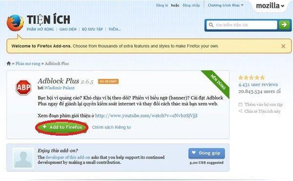 Hướng dẫn setup Adblock Plus chặn quảng cáo trên trình duyệt
