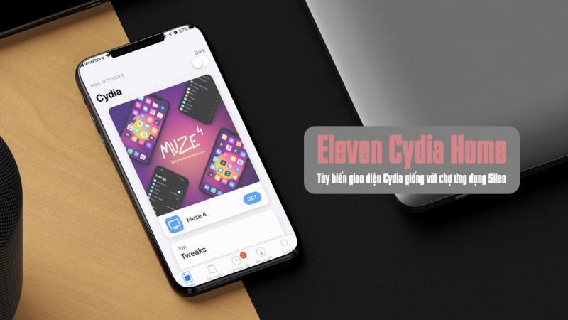 Trải nghiệm trước chợ phần mềm Sileo với tinh chỉnh Eleven Cydia Home