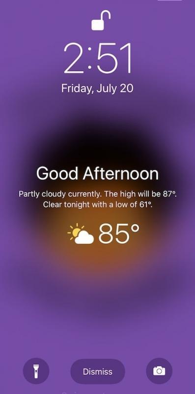 Hướng dẫn hướng dẫn hiển thị thông tin thời tiết ngay trên màn hình khóa trên iPhone