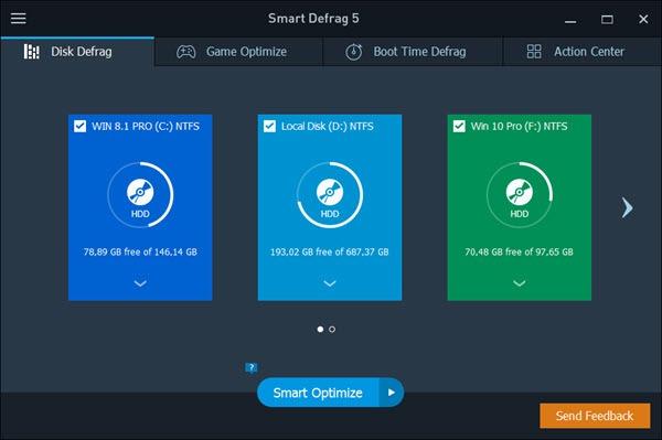 Download Smart Defrag 5 - Phần Mềm Chống Phân Mảnh Ổ Đĩa Update