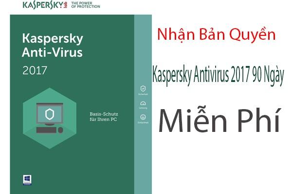 Nhận Bản Quyền Kaspersky Antivirus 2017 90 Ngày Miễn Phí