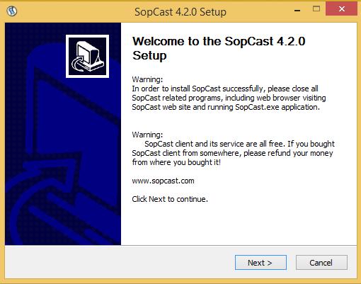 Download Phần Mềm Xem Bóng Đá Trực Tiếp -  SopCast 4.2 (New update)