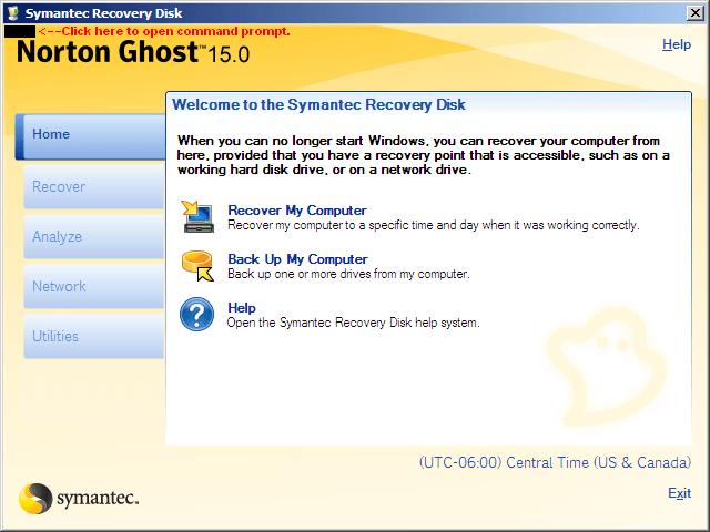 Phần mềm ghost máy tính Norton Ghost