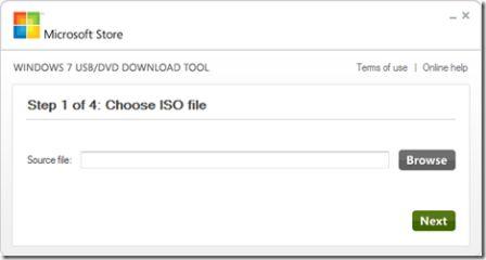 Tạo USB Boot với Windows USB/DVD Download Tool