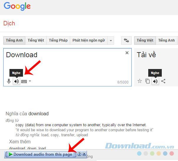 Ba hướng dẫn download audio trên Google Translate